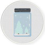 Winter Jar Cross Stitch Illustration