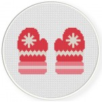 Winter Mittens Cross Stitch Illustration