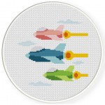 Air Squadron Cross Stitch Illustration