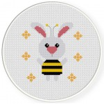 Bumble Bunny Cross Stitch Illustration