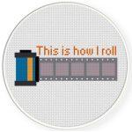 Camera Film Cross Stitch Illustration