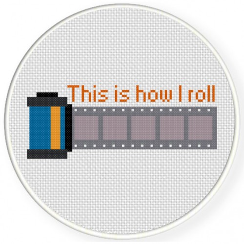 Camera Film Cross Stitch Illustration