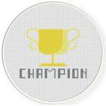 Champion Cross Stitch Illustration