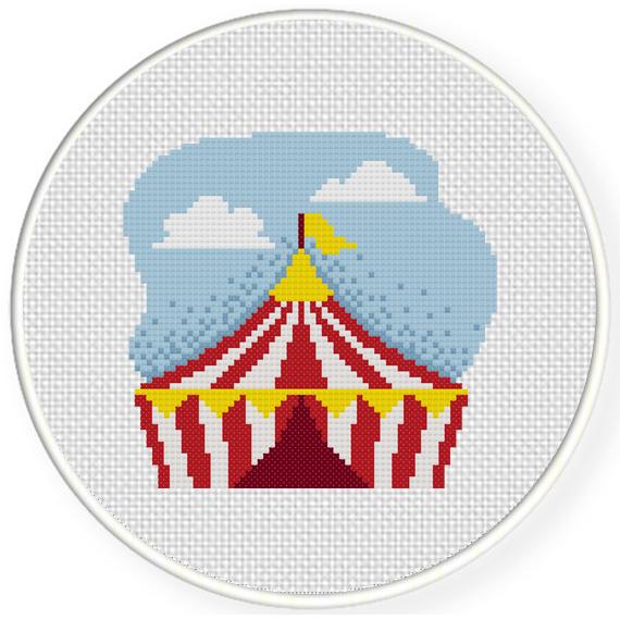 Circus Tent Cross Stitch Illustration  sc 1 st  Daily Cross Stitch & Circus Tent Cross Stitch Pattern | Daily Cross Stitch