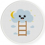 Cloud Ladder Cross Stitch Illustration