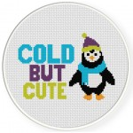 Cold But Cute Cross Stitch Illustration