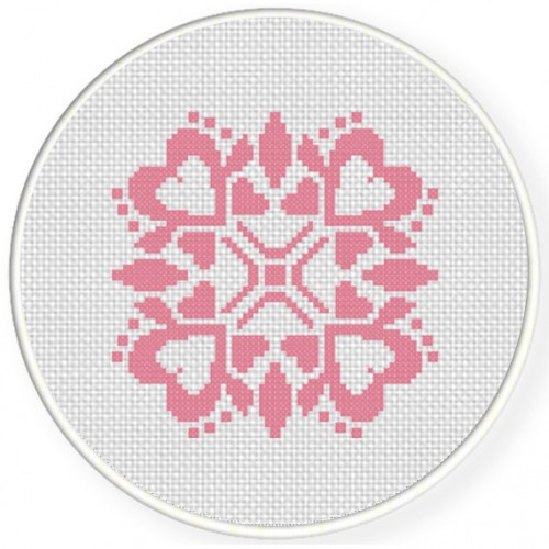 Damask Design Pattern 07 Cross Stitch Illustration