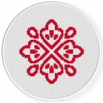 Damask Design Pattern 10 Cross Stitch Illustration