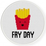 Fry Day Cross Stitch Illustration