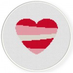 Heart Stripe Cross Stitch Illustration