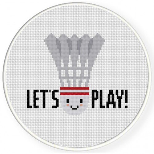 Let's Play! Cross Stitch Illustration