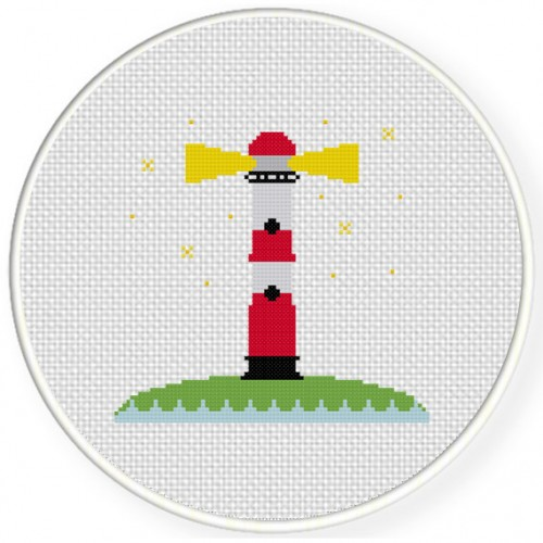 Lighthouse Cross Stitch Illustration