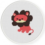 Lion Cute Cross Stitch Illustration