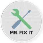 Mr. Fix It Cross Stitch Illustration