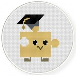 Mr. Puzzle Cross Stitch Illustration