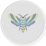 Pastel Moth Cross Stitch Illustration