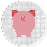 Piggy Back Cross Stitch Illustration