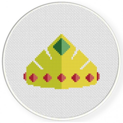 Precious Crown Cross Stitch Illustration