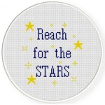 Reach For The Stars Cross Stitch Illustration