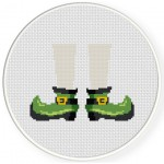 St. Patrick's Day Shoes Cross Stitch Illustration