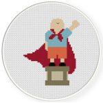 Super Boy Cross Stitch Illustration