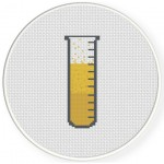 Test Tube Cross Stitch Illustration