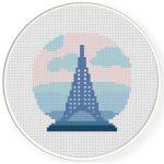 The Eiffel Tower Cross Stitch Illustration