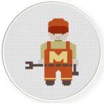 The Mechanic Cross Stitch Illustration