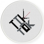 Tik Tok Cross Stitch Illustration