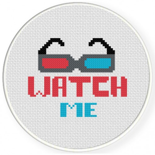 Watch 3D Cross Stitch Illustration