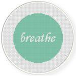 Breathe Cross Stitch Illustration