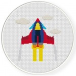 Cool Jet Plane Cross Stitch Illustration