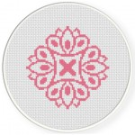 Damask Design Pattern 13 Cross Stitch Illustration