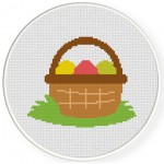 Egg Basket Cross Stitch Illustration