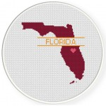 Florida Love Cross Stitch Illustration