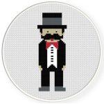 Gentlemen Cross Stitch Illustration