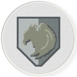 Griffin Shield Cross Stitch Illustration