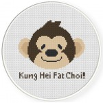 Kung Hei Fat Choi Cross Stitch Illustration