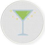 Martini Cross Stitch Illustration