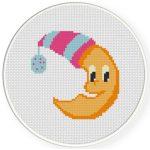 Mr. Moon Cross Stitch Illustration