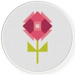Polygon Flower Cross Stitch Illustration