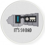 Power Glove Cross Stitch Illustration
