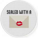 Sealed With A Kiss Cross Stitch Illustration