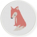 Sitting Fox Cross Stitch Illustration