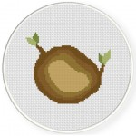 Tree Chopped Cross Stitch Illustration