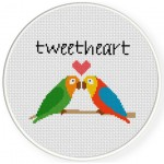 TweetHeart Cross Stitch Illustration