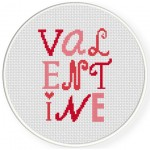Valentine Cross Stitch Illustration