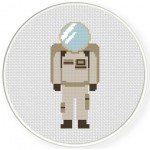 Astronaut Suit Cross Stitch Illustration