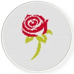 Beautiful Rose Cross Stitch Illustration