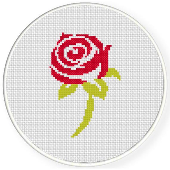 Beautiful Rose Cross Stitch Pattern Daily Cross Stitch
